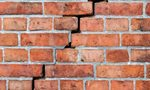 Cracked wall of a house with subsidence issues