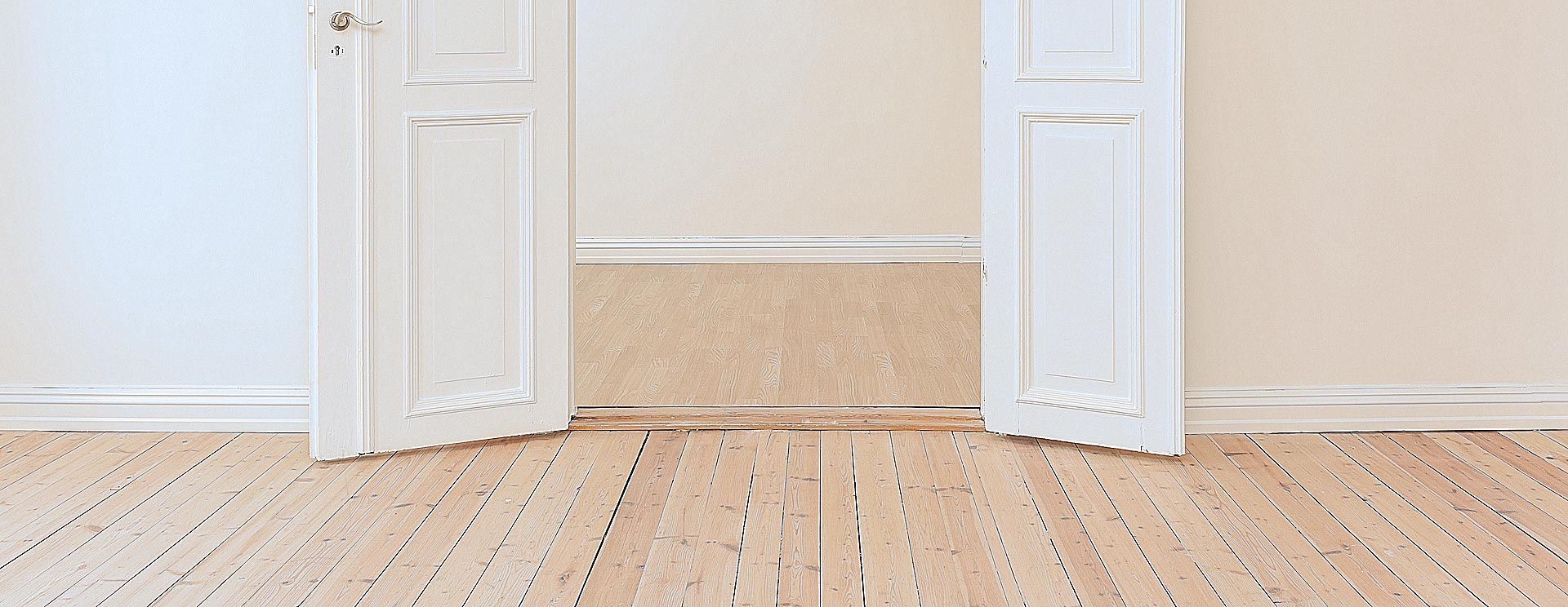 An unoccupied property with wooden floors